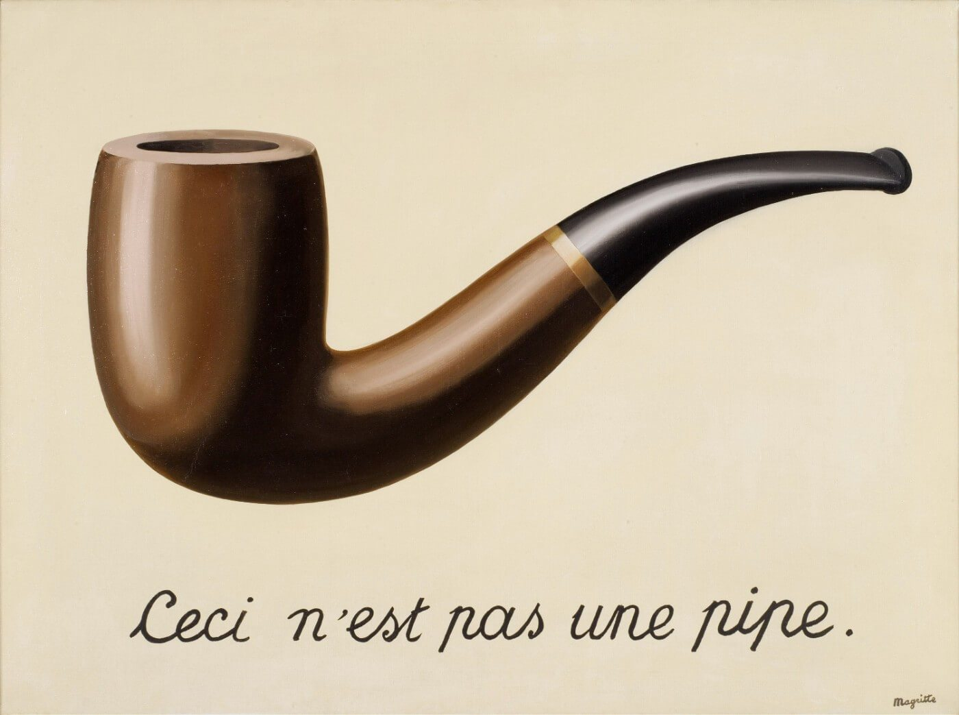 The Treachery of Images (1929) by René Magritte